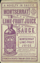 Advert for Montserrat Lime Fruit Juice Sauce